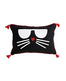 """Choupette Decorative Pillow, 18"""" x 12"""""""