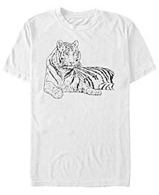 White Tiger Men's Short Sleeve T-Shirt