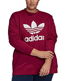 adidas Originals Plus Size Cotton Logo Sweatshirt