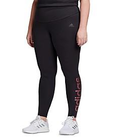 Plus Size Essentials Logo High-Rise Leggings