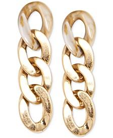 Gold-Tone Chain Link Drop Earrings