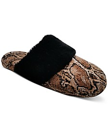 INC Animal-Print Scuff Slippers, Created for Macy's
