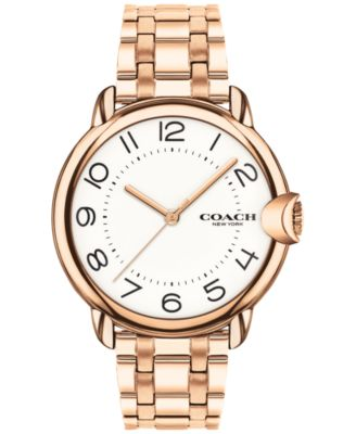 코치 여성 손목 시계 COACH Womens Arden Rose Gold-Plated Bracelet Watch 36mm