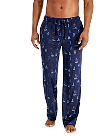 Men's Holiday Fleece Pajama Pants, Created for Macy's