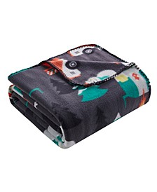 Holiday Print Fleece Throws