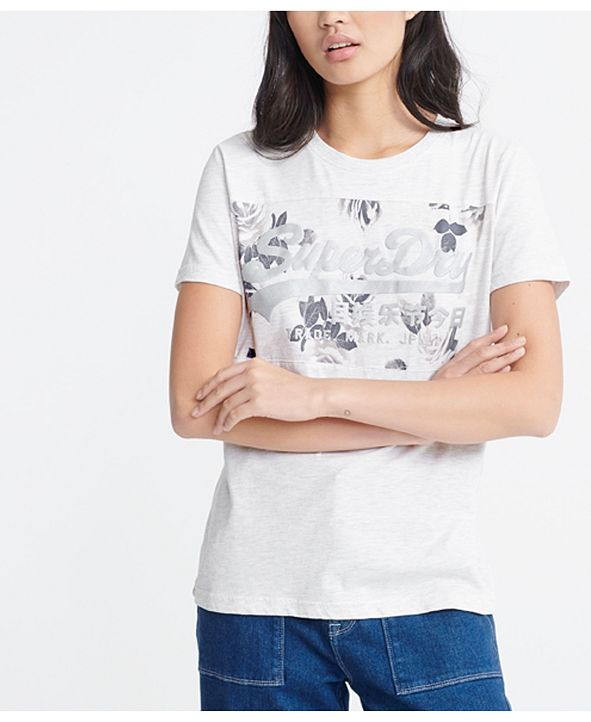 Superdry Women's Vintage Logo Rose Panel T-Shirt