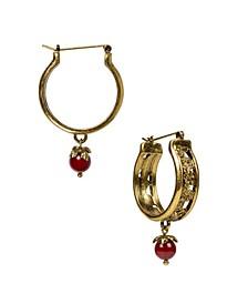 Hoop with Drop Women's Earrings