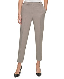 Houndstooth Ankle-Length Pants