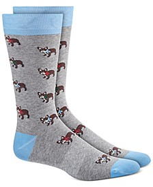 Men's Blue Holiday Socks, Created for Macy's