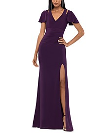 Split-Shoulder A-Line Gown