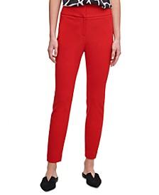 Front-Tab Skinny Pants