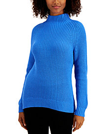 Style & Co Plus Size Funnel-Neck Sweater, Created For Macy's