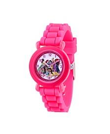 Disney Princess Cinderella Girls' Pink Plastic Watch 32mm