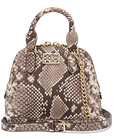 Croc Embossed Leather Steffy Mini Dome Satchel