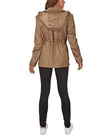 Cole Haan Packable Hooded Anorak Raincoat