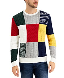 Men's Patchwork Sweater, Created for Macy's