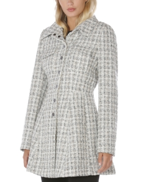 Laundry By Shelli Segal LAUNDRY BY SHELLI SEGAL SINGLE-BREASTED SKIRTED COAT