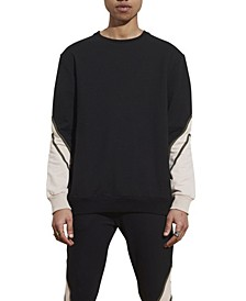 Men's Crew Neck Panel Sweater