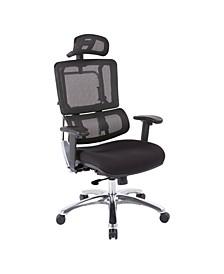 Vertical Black Mesh Back Office Chair