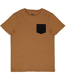 Big Boys Short Sleeve Crew Neck with Chest Pocket T-Shirt