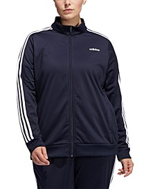 Women's Plus Size Essential 3-Stripe Tricot Track Jacket