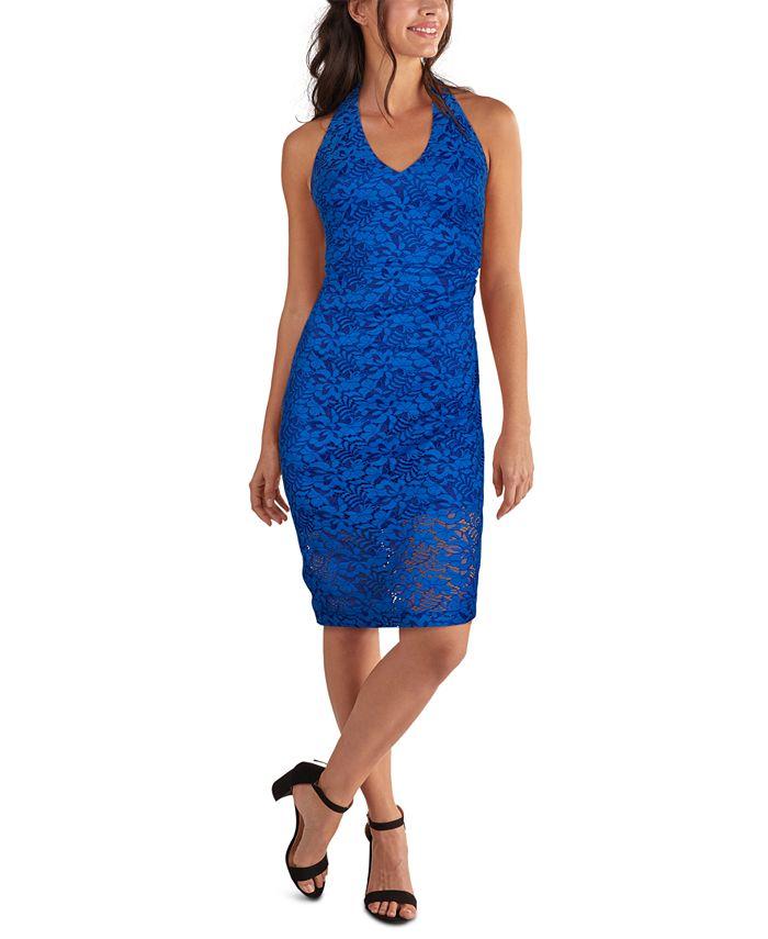 GUESS - Lace Halter-Neck Midi Dress