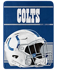 Indianapolis Colts Micro Raschel Run Blanket