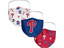 Philadelphia Phillies 3-Pk. Face Mask