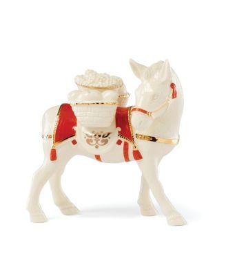 First Blessing Nativity Donkey Figurine