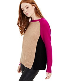 Rubina Cashmere Colorblock Sweater, Created for Macy's
