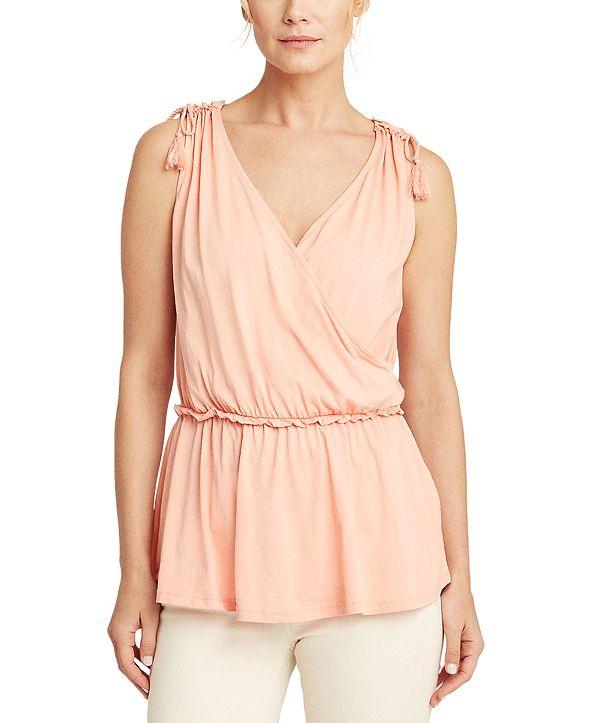 Lauren Ralph Lauren Wrap-Style Top