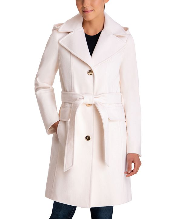 Michael Kors Hooded Belted Walker Coat, Created for Macy's