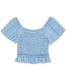 Women's Adaptive Flutter-Sleeve Smocked Top