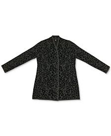 Jacquard Leopard-Print Cardigan, Created for Macy's