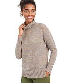 Marled Cashmere Turtleneck Sweater, Regular & Petite Sizes, Created for Macy's