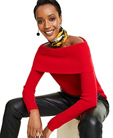 Cashmere Off-The-Shoulder Sweater, Created for Macy's