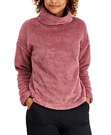 Mock-Neck Fleece Sweater