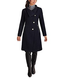 Asymmetrical Stand-Collar Coat, Created for Macy's