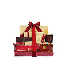 Festive Delights Holiday Chocolate Gift Basket, 11 Piece Set