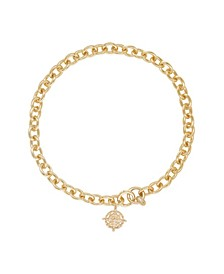 Cruisin 18K Gold Chain Link and Charm Women's Necklace