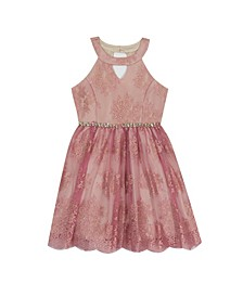 Big Girl Lace Halter Dress