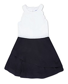Big Girl Round Neck Tier Bottom Dress