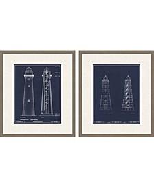 """Lighthouse II Pack 2 Framed Wall Art, 29"""" x 25"""""""