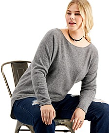 Plus Size Cashmere Shirttail Sweater, Created for Macy's