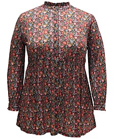 Retro Floral-Print Tunic, Created for Macy's