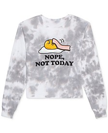 Juniors' Nope, Not Today Tie-Dyed Gudetama Long-Sleeve T-Shirt