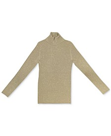 Petite Metallic Turtleneck Sweater, Created for Macy's