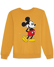 Juniors' Mickey Mouse Fleece Sweatshirt