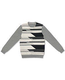 Men's Geometric Pattern Cotton Sweater, Created for Macy's