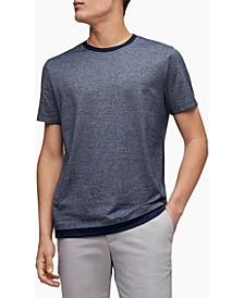 Men's Micro Stripe Double Layer Crewneck T-shirt
